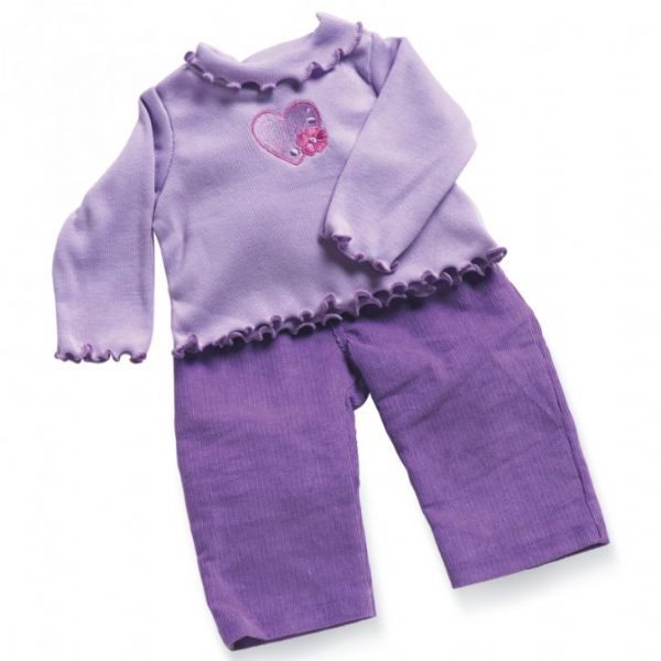 Lavender T shirt and Cords Doll Outfit. 19/21
